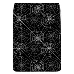 Pattern Spiderweb Halloween Gothic On Black Background Removable Flap Cover (l)