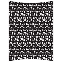 Pattern Skull Bones Halloween Gothic On Black Background Back Support Cushion by genx