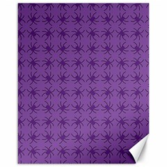 Pattern Spiders Purple And Black Halloween Gothic Modern Canvas 16  X 20