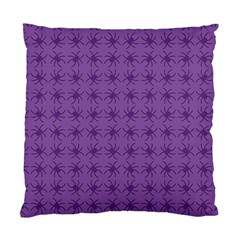 Pattern Spiders Purple And Black Halloween Gothic Modern Standard Cushion Case (two Sides)