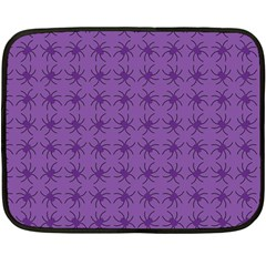 Pattern Spiders Purple And Black Halloween Gothic Modern Double Sided Fleece Blanket (mini)