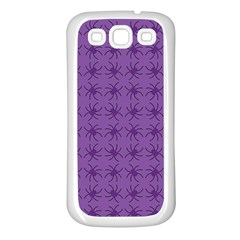 Pattern Spiders Purple And Black Halloween Gothic Modern Samsung Galaxy S3 Back Case (white)