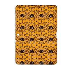 Pattern Pumpkin Spider Vintage Halloween Gothic Orange And Black Samsung Galaxy Tab 2 (10 1 ) P5100 Hardshell Case  by genx