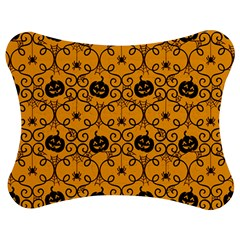 Pattern Pumpkin Spider Vintage Halloween Gothic Orange And Black Jigsaw Puzzle Photo Stand (bow) by snek