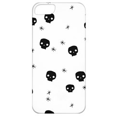 Pattern Skull Stars Handrawn Naive Halloween Gothic Black And White Apple Iphone 5 Classic Hardshell Case
