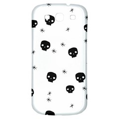 Pattern Skull Stars Handrawn Naive Halloween Gothic Black And White Samsung Galaxy S3 S Iii Classic Hardshell Back Case