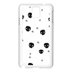Pattern Skull Stars Handrawn Naive Halloween Gothic Black And White Samsung Galaxy Note 3 N9005 Case (white)