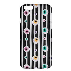 Pattern Eyeball Black And White Naive Stripes Gothic Halloween Apple Iphone 6 Plus/6s Plus Hardshell Case by MAGA
