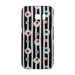 Pattern Eyeball Black And White Naive Stripes Gothic Halloween Samsung Galaxy S6 Edge Hardshell Case