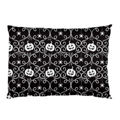 Pattern Pumpkin Spider Vintage Gothic Halloween Black And White Pillow Case