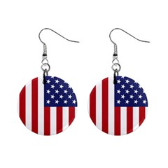 Us Flag Stars And Stripes Maga Mini Button Earrings by snek