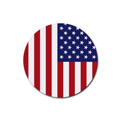 Us Flag Stars And Stripes Maga Rubber Coaster (round)  by MAGA