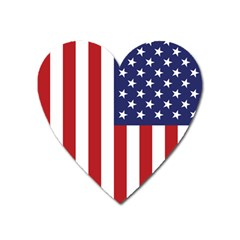 Us Flag Stars And Stripes Maga Heart Magnet by snek