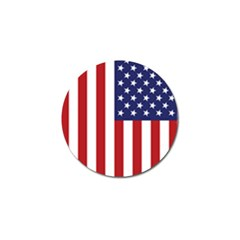 Us Flag Stars And Stripes Maga Golf Ball Marker (10 Pack) by snek