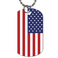 Us Flag Stars And Stripes Maga Dog Tag (two Sides)