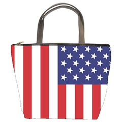 Us Flag Stars And Stripes Maga Bucket Bag by MAGA