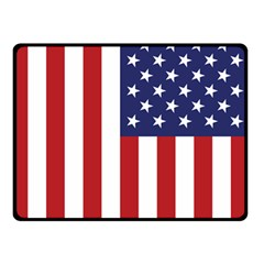 Us Flag Stars And Stripes Maga Double Sided Fleece Blanket (small)