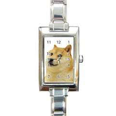 Doggo Doge Meme Rectangle Italian Charm Watch