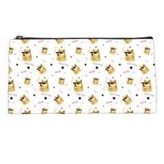 Doge Much Thug Wow Pattern Funny Kekistan Meme Dog White Pencil Cases