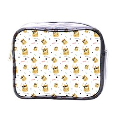 Doge Much Thug Wow Pattern Funny Kekistan Meme Dog White Mini Toiletries Bag (one Side)
