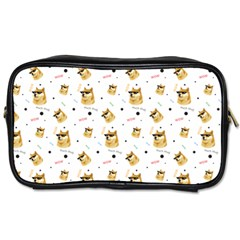 Doge Much Thug Wow Pattern Funny Kekistan Meme Dog White Toiletries Bag (two Sides)