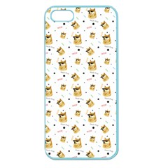 Doge Much Thug Wow Pattern Funny Kekistan Meme Dog White Apple Seamless Iphone 5 Case (color)