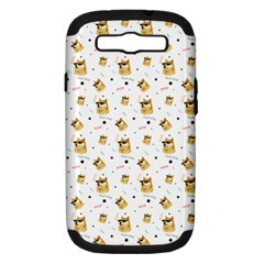 Doge Much Thug Wow Pattern Funny Kekistan Meme Dog White Samsung Galaxy S Iii Hardshell Case (pc+silicone) by MAGA