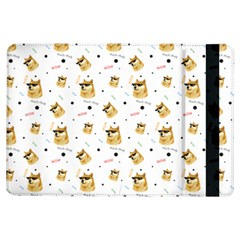 Doge Much Thug Wow Pattern Funny Kekistan Meme Dog White Ipad Air Flip
