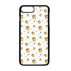 Doge Much Thug Wow Pattern Funny Kekistan Meme Dog White Apple Iphone 7 Plus Seamless Case (black)