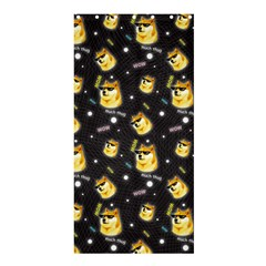 Doge Much Thug Wow Pattern Funny Kekistan Meme Dog Black Background Shower Curtain 36  X 72  (stall)  by MAGA
