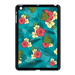 Apu Apustaja And Groyper Pepe The Frog Frens Hawaiian Shirt With Red Hibiscus On Green Background From Kekistan Apple Ipad Mini Case (black) by snek
