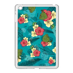 Apu Apustaja And Groyper Pepe The Frog Frens Hawaiian Shirt With Red Hibiscus On Green Background From Kekistan Apple Ipad Mini Case (white) by snek