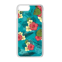Apu Apustaja And Groyper Pepe The Frog Frens Hawaiian Shirt With Red Hibiscus On Green Background From Kekistan Apple Iphone 8 Plus Seamless Case (white) by snek