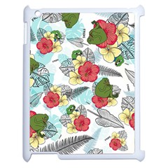 Apu Apustaja And Groyper Pepe The Frog Frens Hawaiian Shirt With Red Hibiscus On White Background From Kekistan Apple Ipad 2 Case (white) by snek