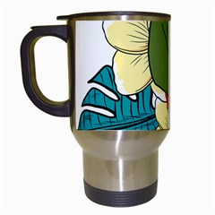 Apu Apustaja And Groyper Pepe The Frog Frens Hawaiian Shirt With Red Hibiscus On White Background From Kekistan Travel Mugs (white)