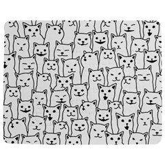 Funny Cat Pattern Organic Style Minimalist On White Background Jigsaw Puzzle Photo Stand (rectangular) by MAGA