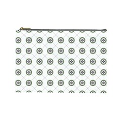 Logo Kekistan Pattern Elegant With Lines On White Background Cosmetic Bag (large)