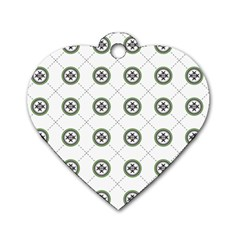 Logo Kekistan Pattern Elegant With Lines On White Background Dog Tag Heart (two Sides)