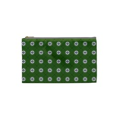 Logo Kekistan Pattern Elegant With Lines On Green Background Cosmetic Bag (small)
