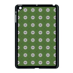 Logo Kekistan Pattern Elegant With Lines On Green Background Apple Ipad Mini Case (black)