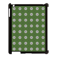 Logo Kekistan Pattern Elegant With Lines On Green Background Apple Ipad 3/4 Case (black)