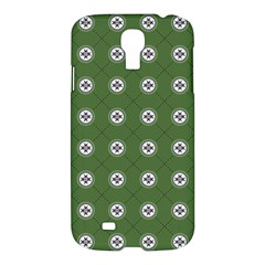 Logo Kekistan Pattern Elegant With Lines On Green Background Samsung Galaxy S4 I9500/i9505 Hardshell Case by snek
