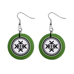 Official Logo Kekistan Circle Green And Black Mini Button Earrings by snek