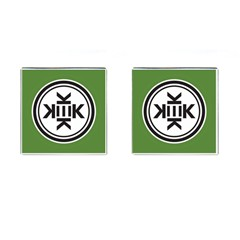 Official Logo Kekistan Circle Green And Black Cufflinks (square) by snek