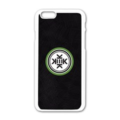 Official Logo Kekistan Circle Green And Black On Black Textured Background Apple Iphone 6/6s White Enamel Case