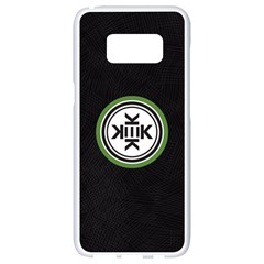 Official Logo Kekistan Circle Green And Black On Black Textured Background Samsung Galaxy S8 White Seamless Case