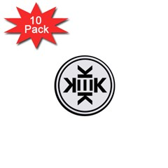 Official Logo Kekistan Circle Black And White 1  Mini Buttons (10 Pack)  by snek