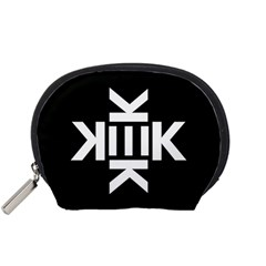 Official Logo Kekistan Kek Black And White On Black Background Accessory Pouch (small)