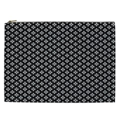 Logo Kek Pattern Black And White Kekistan Black Background Cosmetic Bag (xxl)