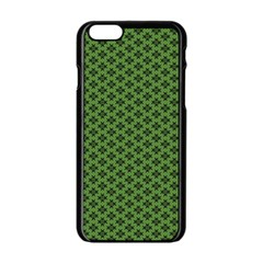 Logo Kek Pattern Black And Kekistan Green Background Apple Iphone 6/6s Black Enamel Case